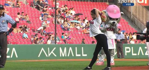 韓国プロ野球で起きた史上初の始球式!(2013年)