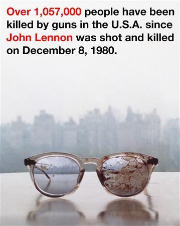 オノ・ヨーコが銃犯罪撲滅訴え、J・レノンの血まみれ眼鏡投稿